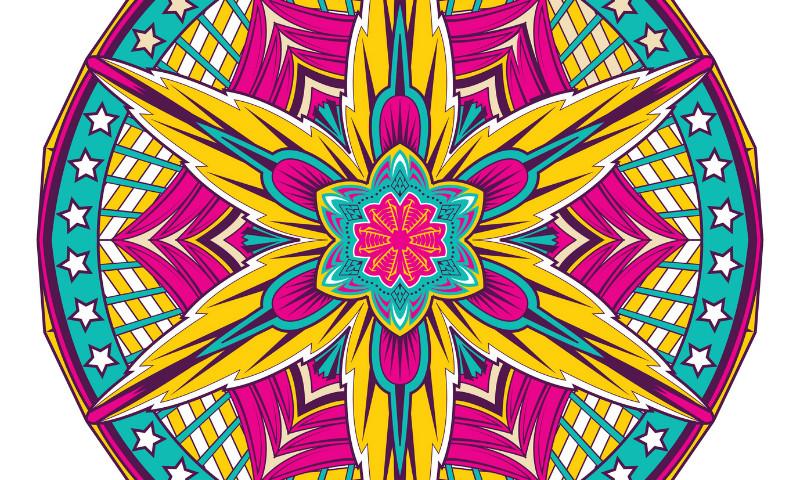Dibujos para Colorear de Mandalas de Flores