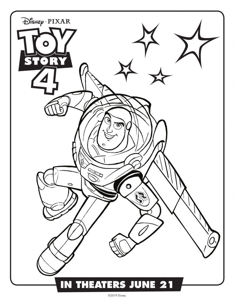 Buzz Lightyear para Colorear