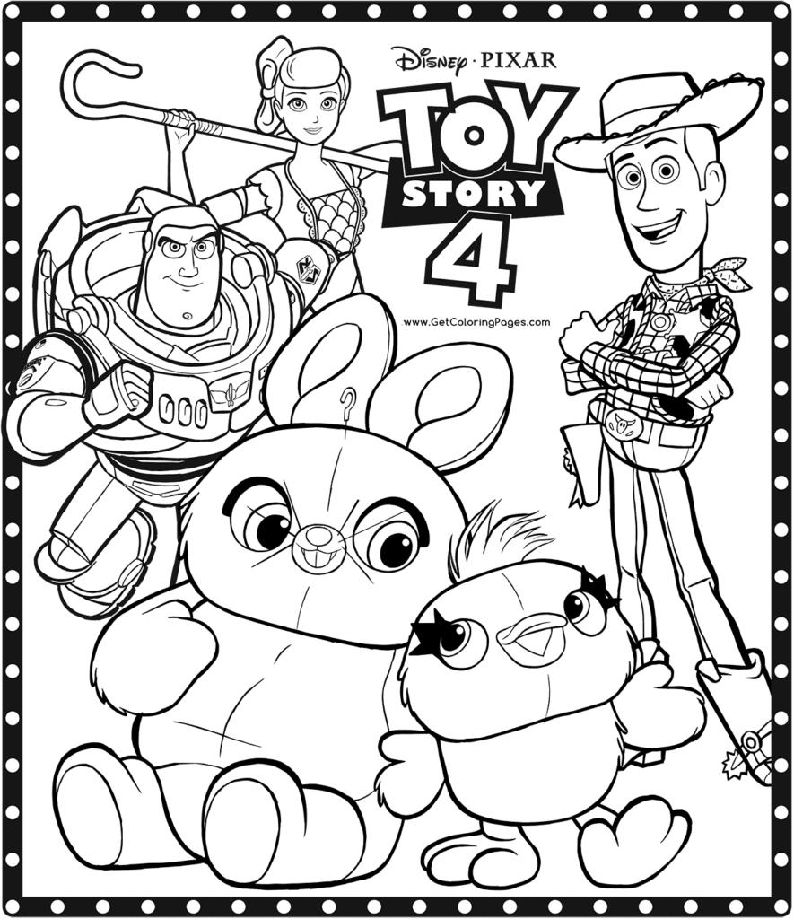 Dibujo Colorear de Toy Story 4