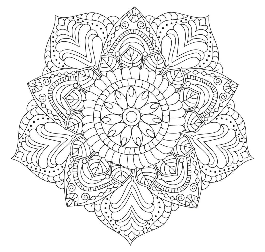 Dibujo Mandala Flor Capullo