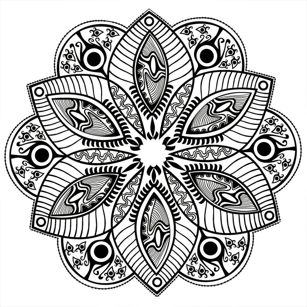 Dibujo Mandala Flor Formas