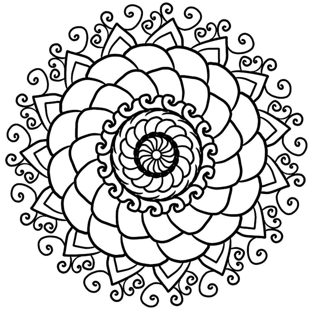 Dibujo Mandala Petalos Flor