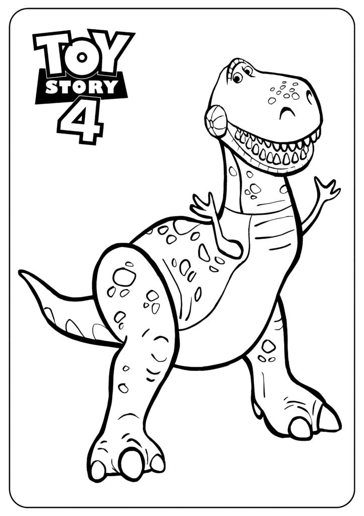 Dinosaurio Toy Story Colorear