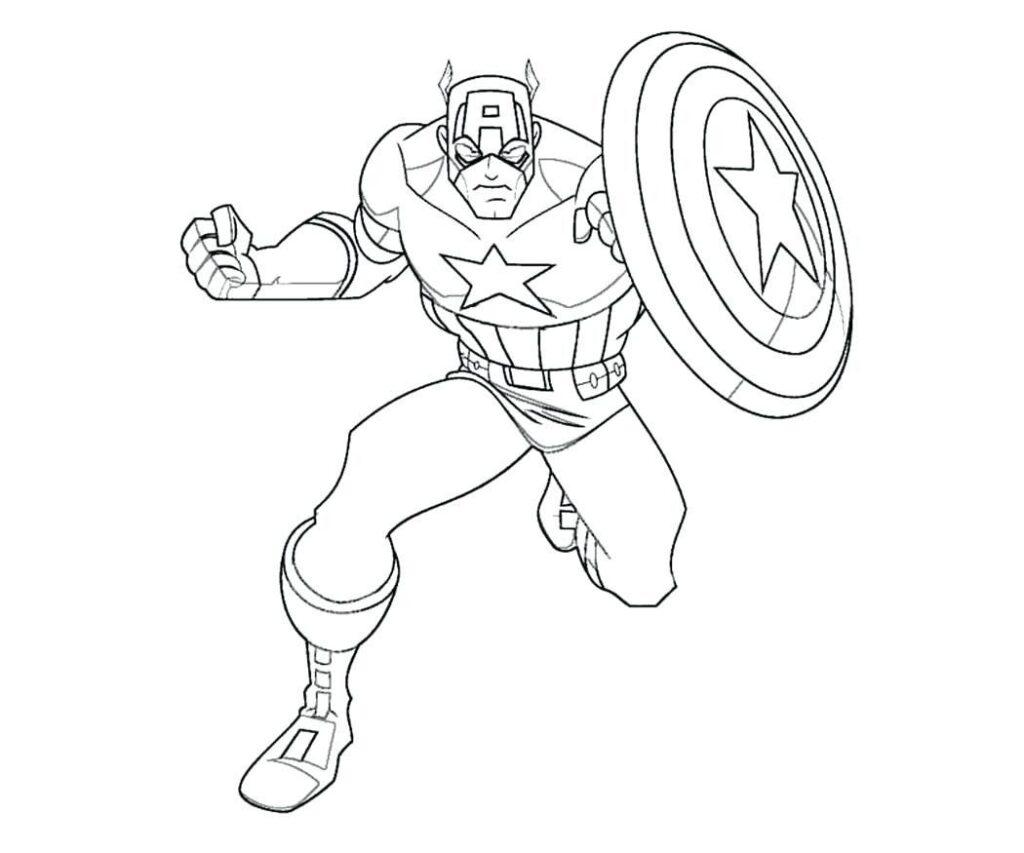 Capitan America Dibujo Para Pintar