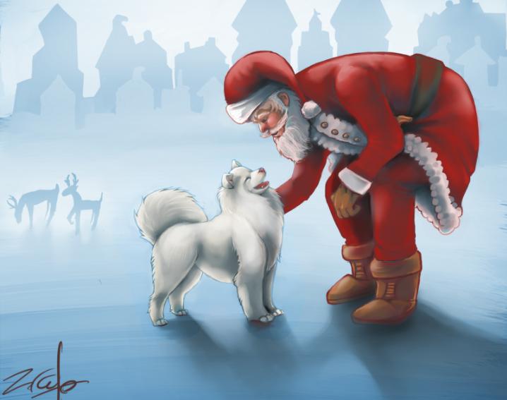 Dibujos para Colorear de Santa Claus